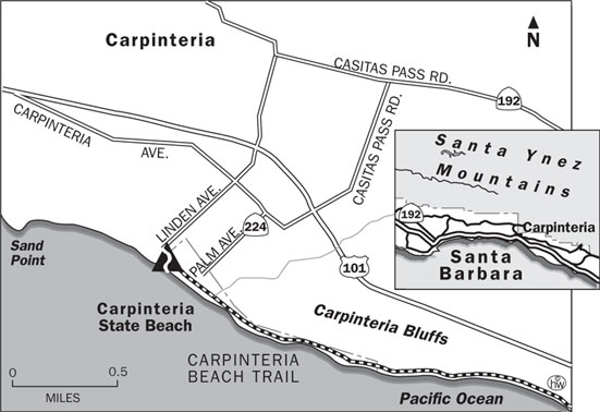 Carpinteria Beach Trail Map