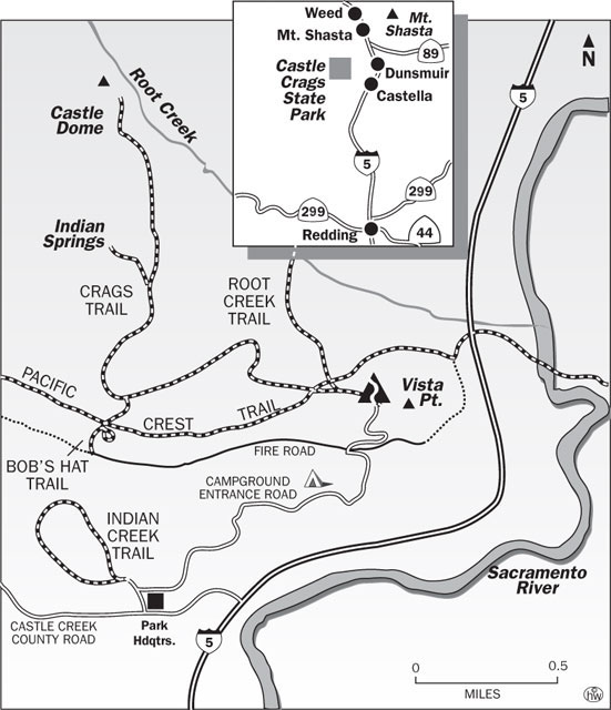 Crags Trail Map