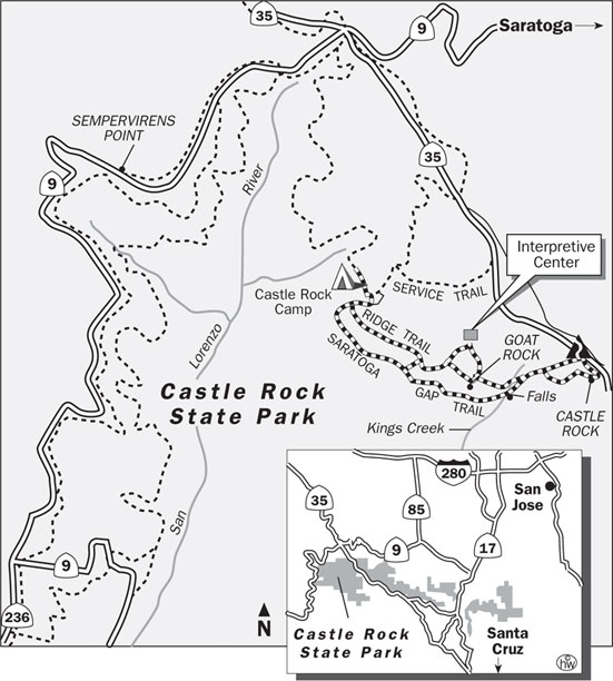 Saratoga Gap, Ridge Trails Map