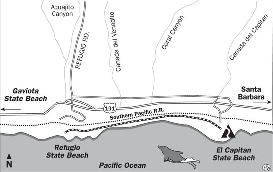 El Capitan Beach Trail Map