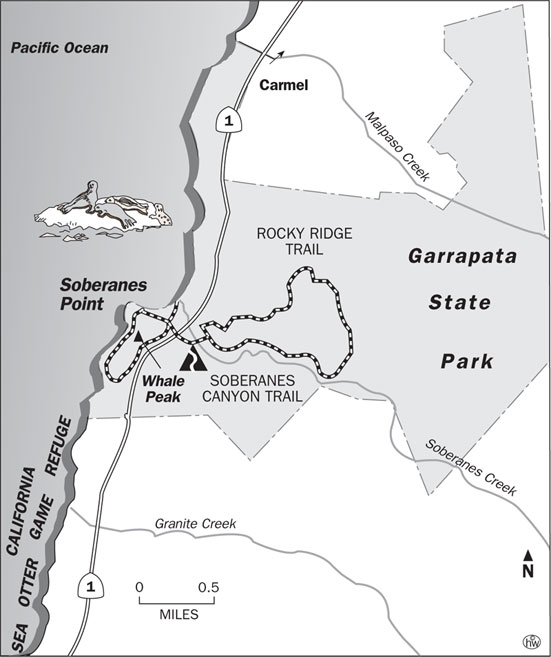 Rocky Ridge, Soberanes Canyon Trails Map
