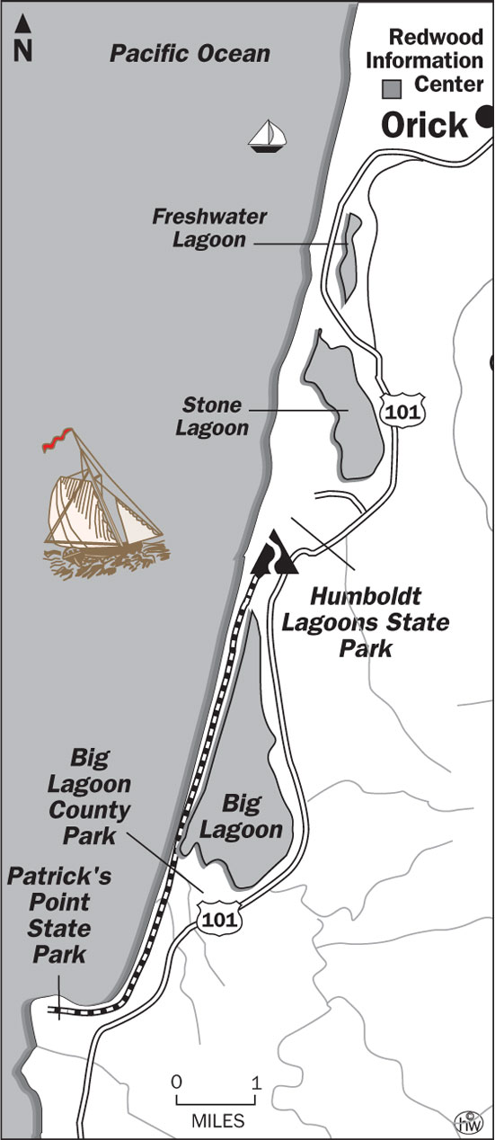 Big Lagoon Beach Trail Map