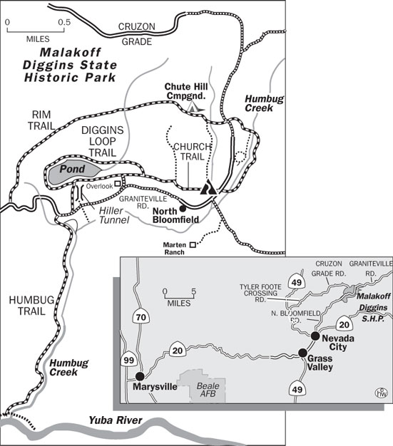Diggins Loop Trail Map