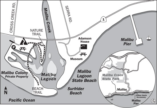 Malibu Beach Trail Map