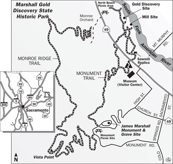 Discovery, Monument, Monroe Ridge Trails Map
