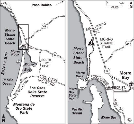 Morro Strand Trail Map