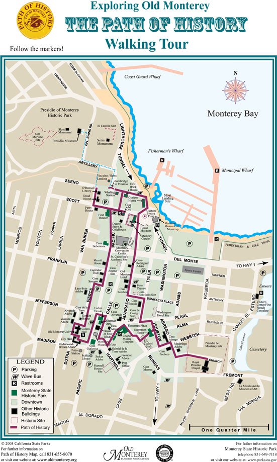 Monterey's Path of History Trail Map