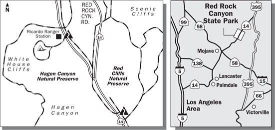 Hagen, Red Cliffs Trails Map