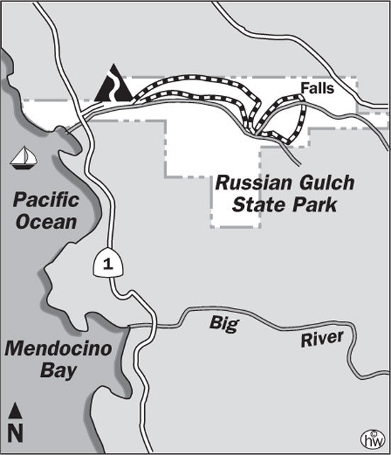 Russian Gulch Trail Map
