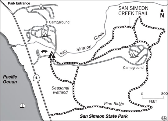 San Simeon Creek Trail Map