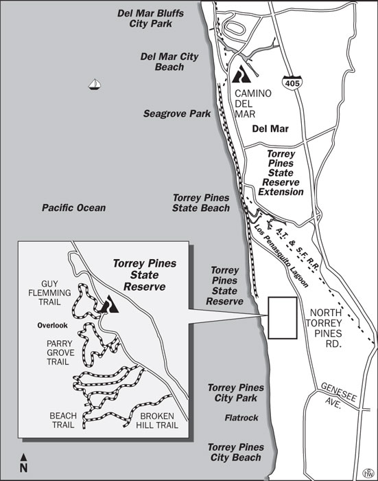 Torrey Pines Beach Trail Map