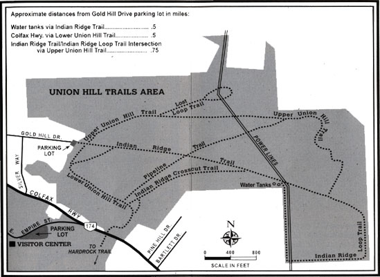Union Hill trail map