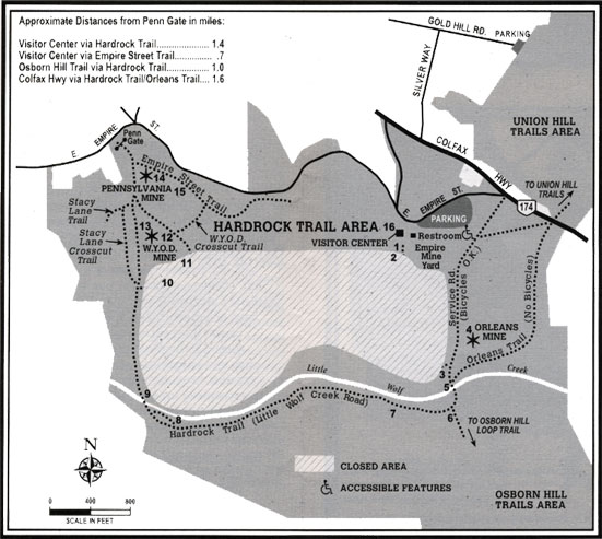 Hardrock trail area map