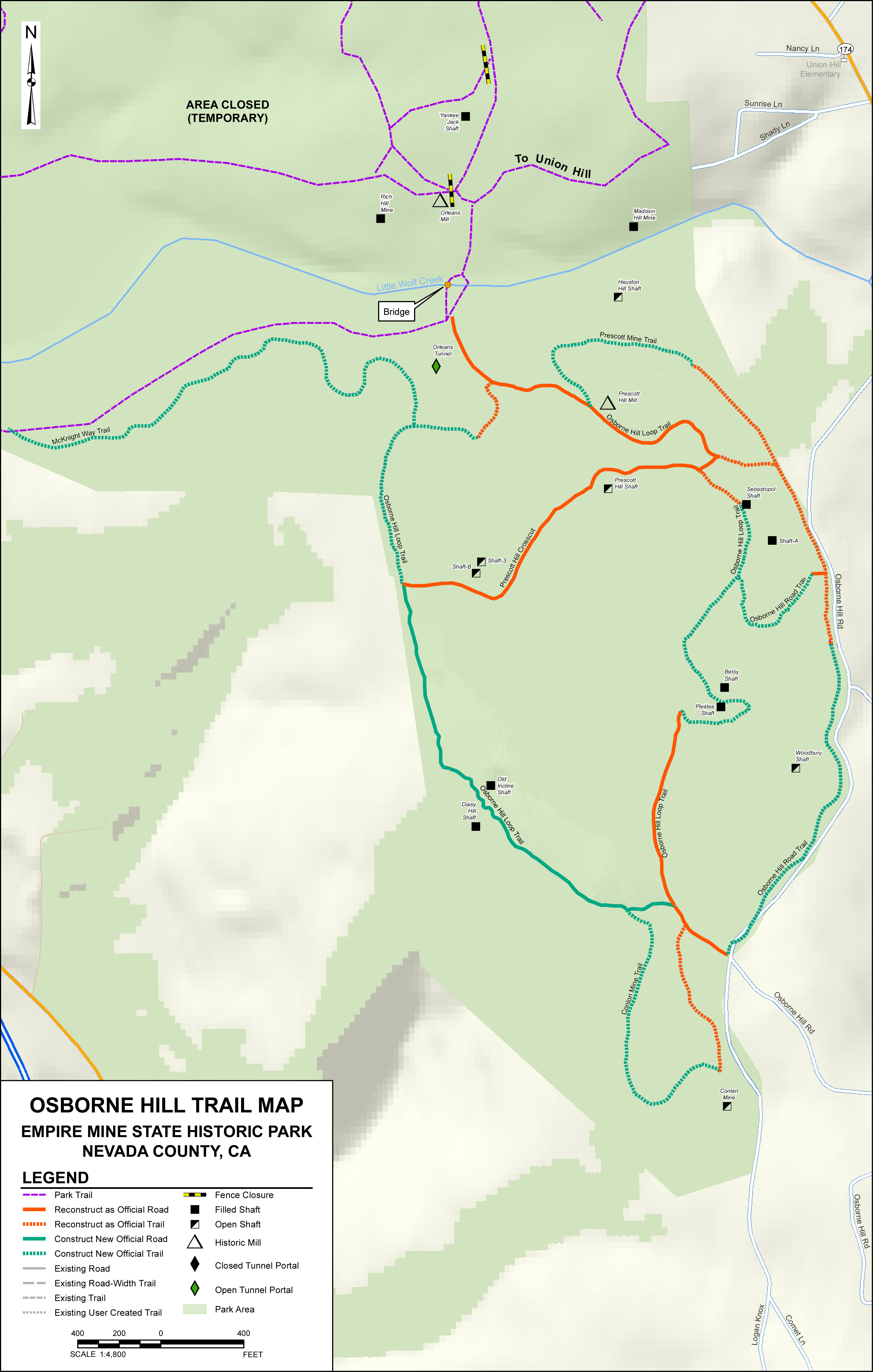 Osborn Hill Trail Map