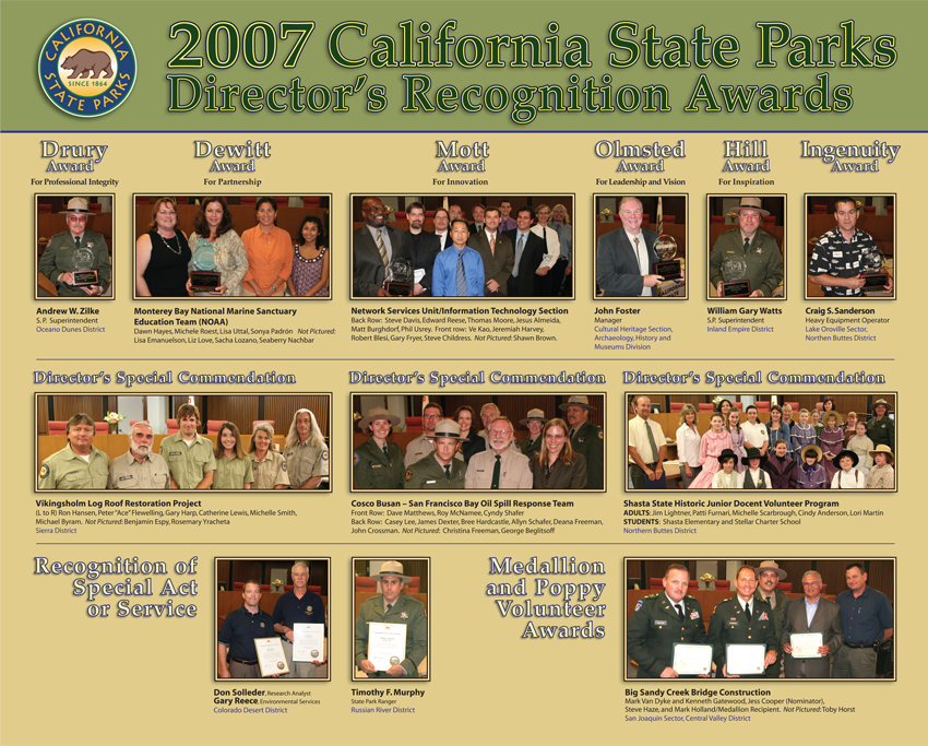 2007 Awards (click to enlarge)