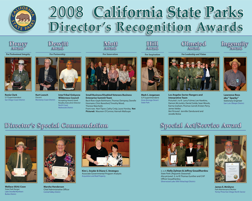 2008 Awards (click to enlarge)