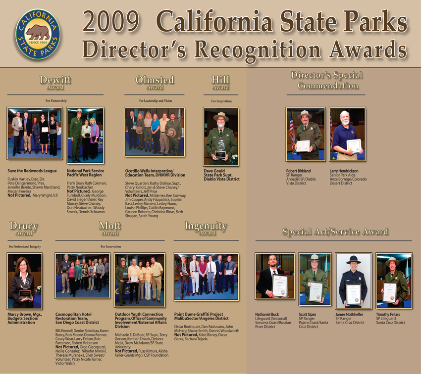 2009 Awards (click to enlarge)