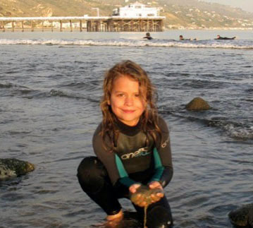 Image of child in the surf