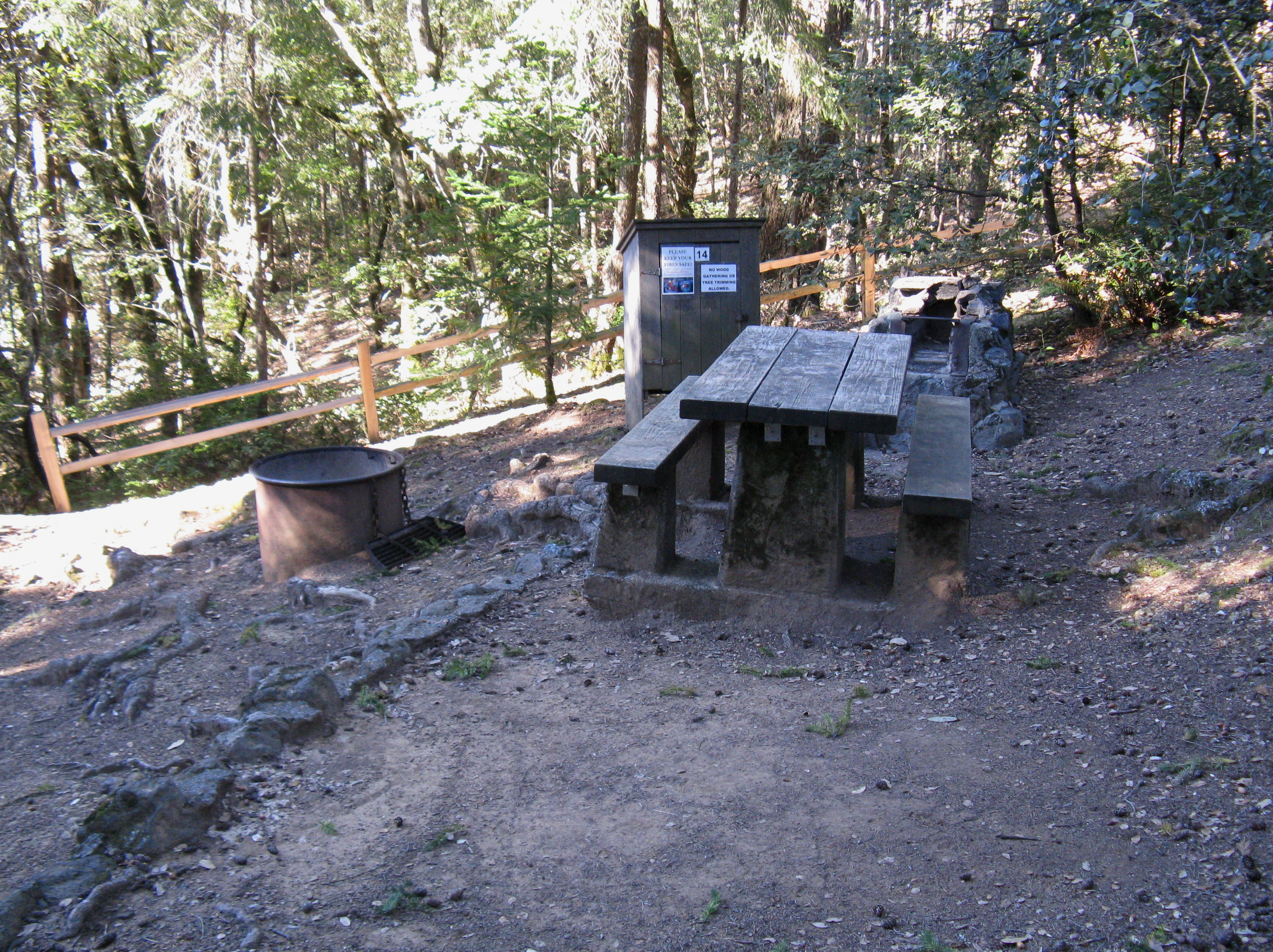 Pantoll Campground Site 14