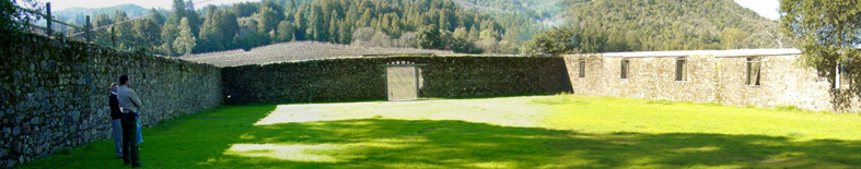 Jack London Winery Ruins in winter