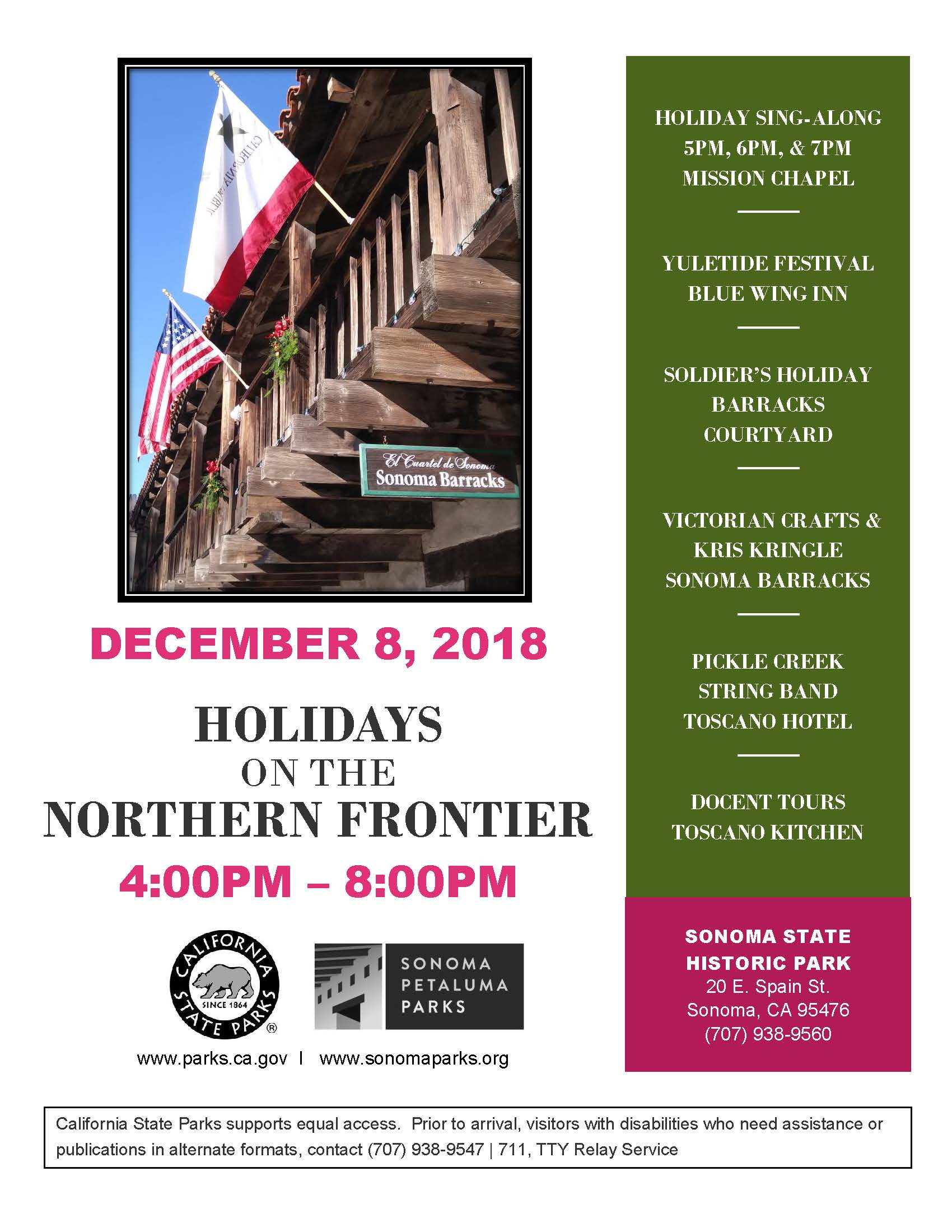 Flyer for Holidays on the Northern Frontier