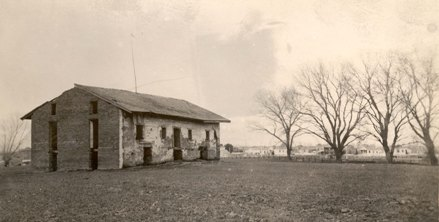 Central Building at Sutter's Fort, circa 1890. (Sutter's Fort Archives)