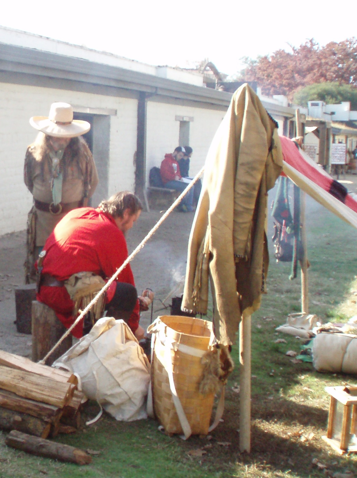 Pioneer Men at Living History Days at the Fort