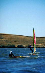 Two windsurfers at Brannan Island SRA