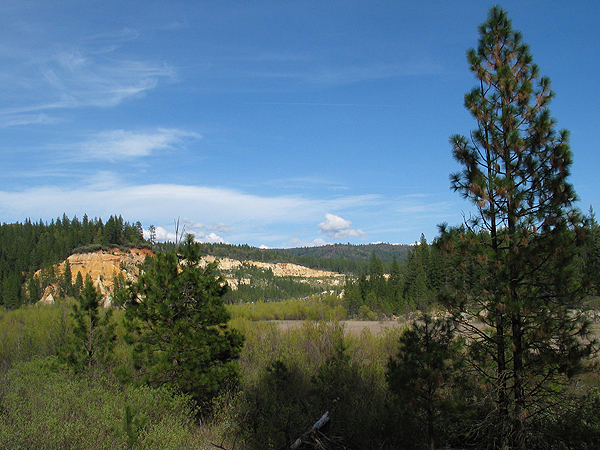 View from the trails in the diggins