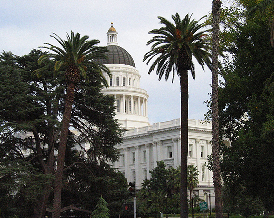 View of the California State Capitol.