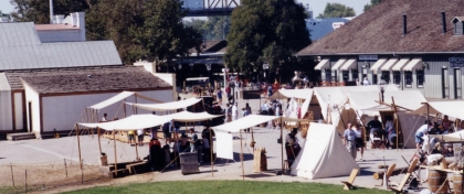 Embarcadero Tent City at the Gold Rush Days in Old Sacramento