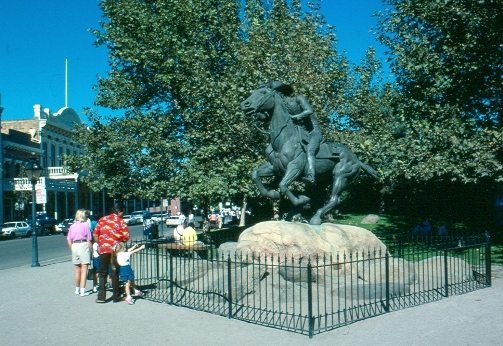 Pony Express Statue in Old Sacramento State Historic Park