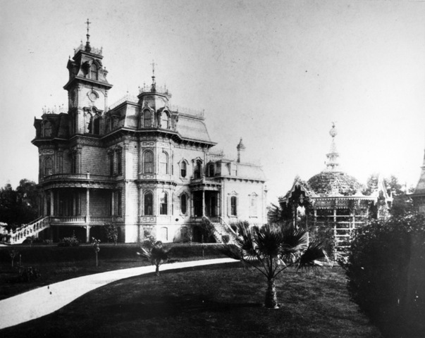 The Mansion as it appeared in the 1880s, before it became California's Executive Mansion.