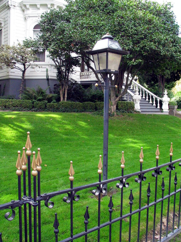 Lampost and Fence in front of Governor's Mansion.