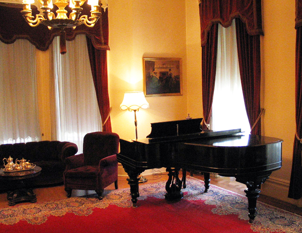 Music room and Library.