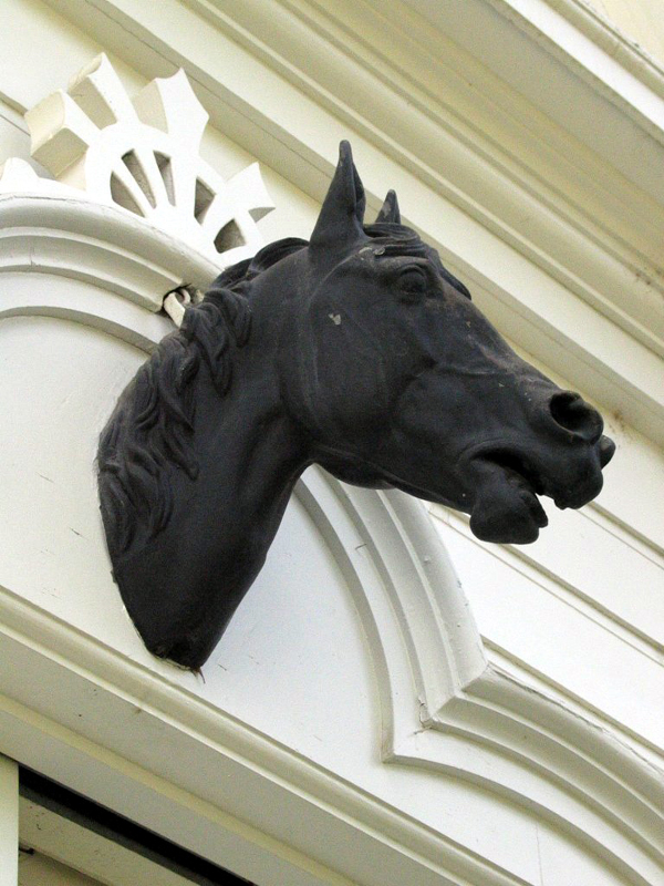 Detail of Horse Statue on Carriage House (visitor's Center).