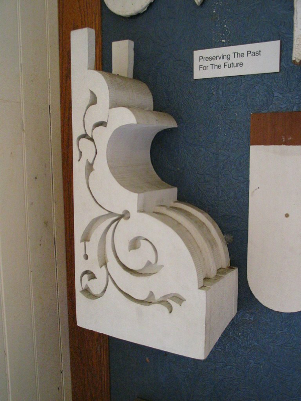 Restored architectural element from mansion.