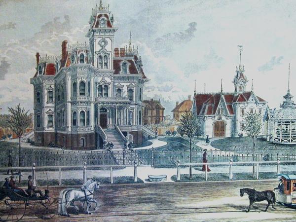 Original picture of Albert Gallatin mansion.