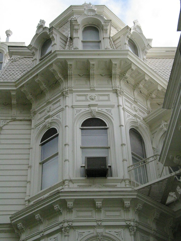 Detail of Second Empire-Italianate architectural element.