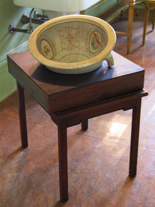 Original wash basin circa 1880.