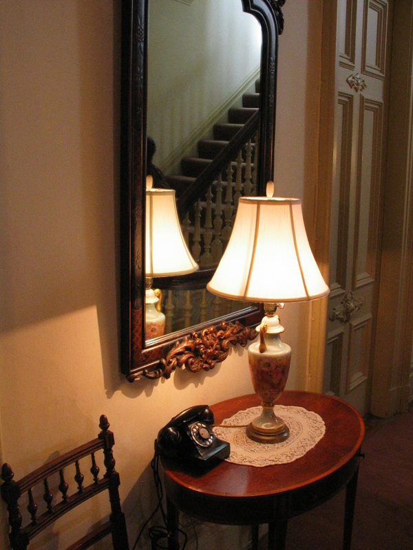 Hall Lamp and Mirror.