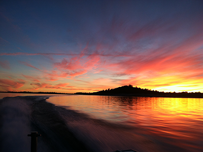 Sunset at Folsom Lake SRA