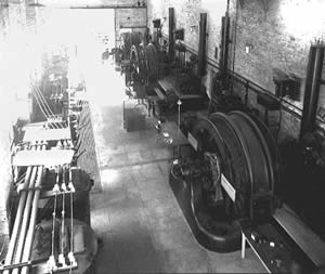 Interior view of Powerhouse and generators
