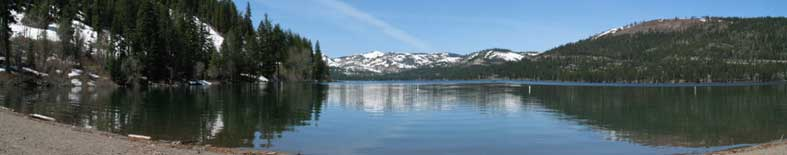 View of Donner Lake and Mountains at Donner Memorial SHP
