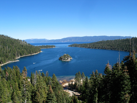 View of entire Emerald Bay.
