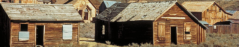 View of buildings at Bodie SHP