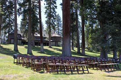 Ceremony Site Brown Chairs