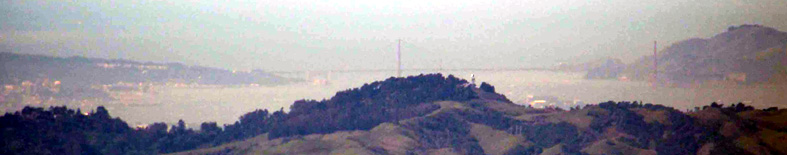 Golden Gate from Mt. Diablo summit