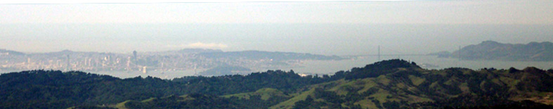 San Francisco from Mt. Diablo summit