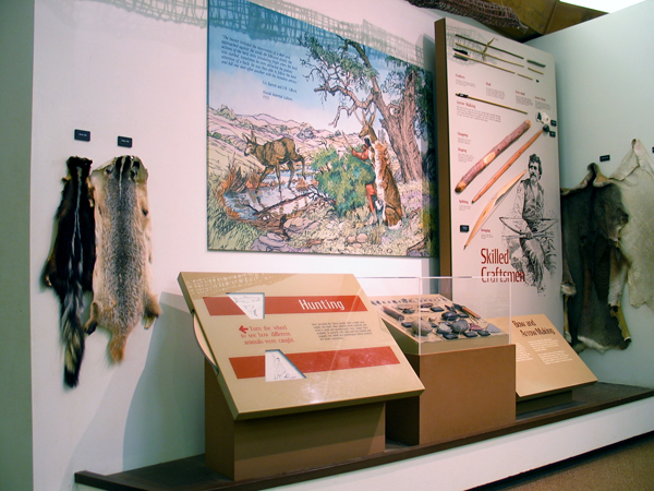 Furs and tools used by the Miwok.